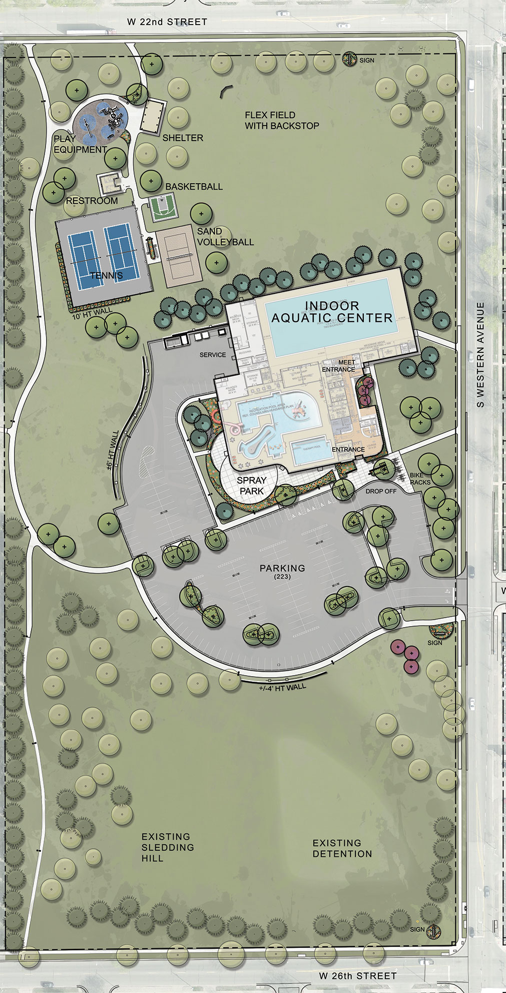Midco Aquatic Center Parking Map